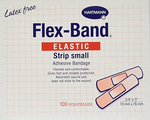 "Flex-Band Fabric Adhesive Bandages, Strips, 3/4"" x 3"", Box of 100"