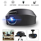 Projector, Meer LED YG600 Portable Video Projector 2000 Lumens 200'' TV Projector Support 1080P Full HD for Video/Movie/Game/Home Theater with HDMI/VGA /USB/SD/AV Input