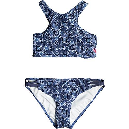 Roxy Big Girls' Perou Ditsy Bikini Top and Bottom Set, Marshmallow Chicas Del Mar RG, - Mar Kids Del