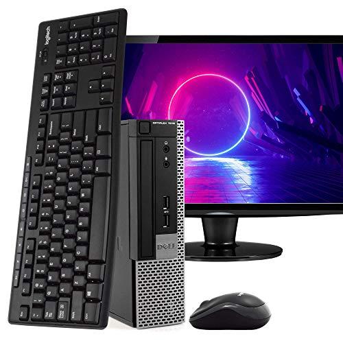 Dell OptiPlex 7010 Ultra Small Space Saving PC Desktop Computer, Intel i5, 8GB RAM 500GB HDD, Windows 10 Pro, 24″ LCD Monitor, New 16GB Flash Drive, Wireless Keyboard & Mouse, DVD, WiFi (Renewed)