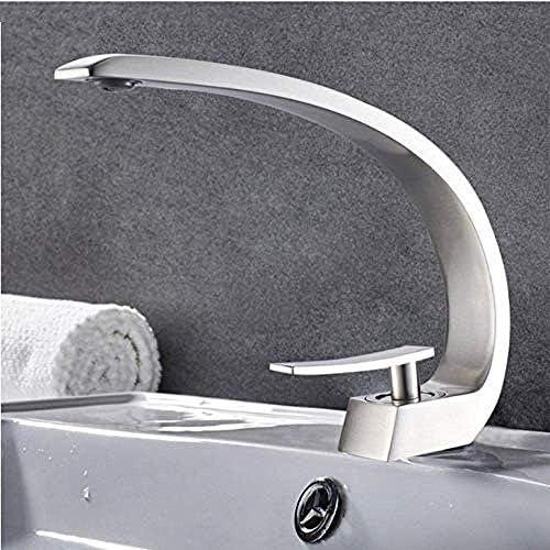 WXQ-XQ 浴室用タップキッチンシンクMixertap流域水栓現代浴室のミキサーのタップの真鍮の洗面台の蛇口シングルハンドル単穴は、エレガントクレーン