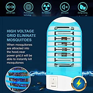 Mosquito Killer Lamp, ROMUCHE 4Pack Mini Mosquito Killer Lamp, Indoor Electronic Insect killer, Electronic Insect Trap Harmless for Human & Pets