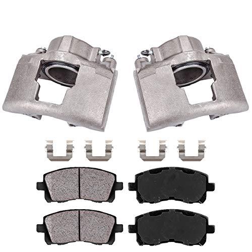 Callahan CCK04655 [2] FRONT Premium Original Brake Calipers + Ceramic Pads + Hardware [ K3500 Ram 2500 3500 GMC K3500 ]