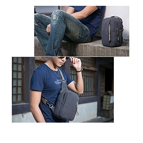 air Canvas Bag Single Shoulder Man Bag Open Casual Bag K D Chest Bandoliers Fashion gpPqAYwCn