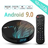 Android TV Box 9.0, Android TV Box RK3328 5.8G/2.4G Dual Band WiFi 4GB 32GB with Bluetooth 4.1 Converter Box 3D 4K HD Resolution Set Top Tv Box