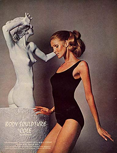 Body Sculpture by Cole of California swimsuit ad 1970 Vog