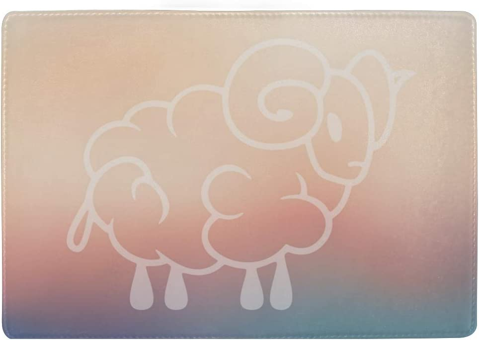 Sheep Umbrella Horn Multi-purpose Travel Passport Set With Storage Bag Leather Passport Holder Passport Holder With Passport Holder Travel Wallet