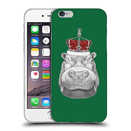 """GoGoMobile Coque de Protection TPU Silicone Case pour // Q05260622 hippopotame Cadmium Vert // Apple iPhone 6 4.7"""""""