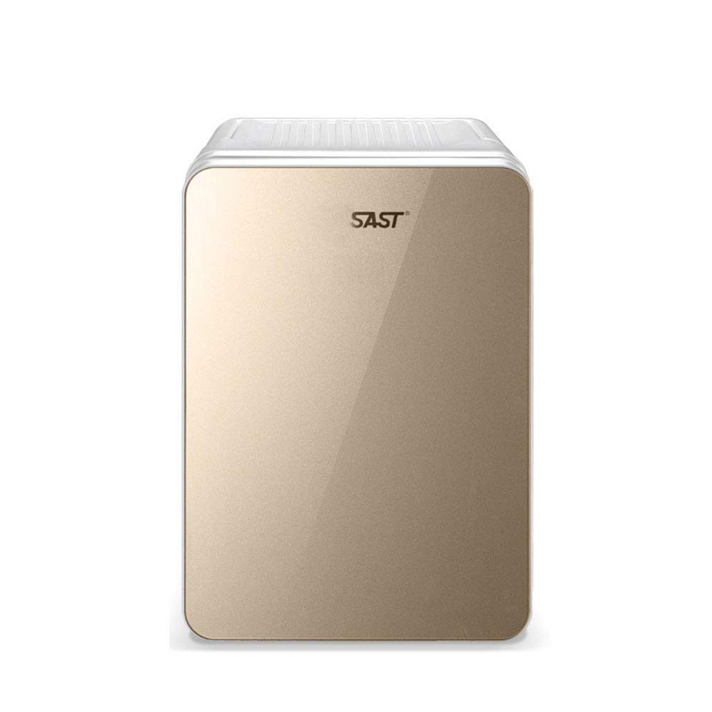 HM&DX Thermoelectric Mini Fridge Cooler Warmer Portable Compact Mini Refrigerator Energy Efficient Car Dorm Room Office-gold 10L