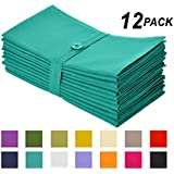 Cotton Craft Napkins, 12 Pack Oversized Dinner Napkins 20x20 Teal, 100% Cotton, Tailored with Mitered corners and a generous hem, Napkins are 38% larger than standard size napkins
