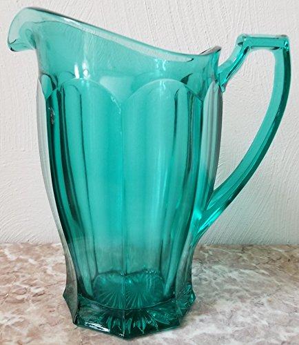 Pitcher - Colonial Pattern - Laurel Green Glass - Original Westmoreland Glass