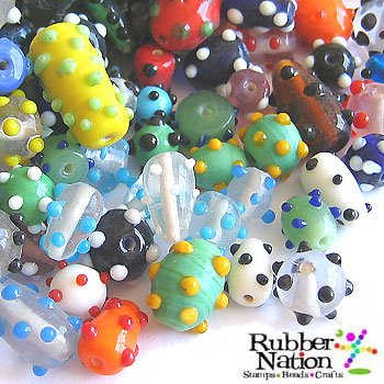 Bumpy Glass (Glass Beads Bumpy Dot Sputnik 8-18mm Rainbow 40+pc)