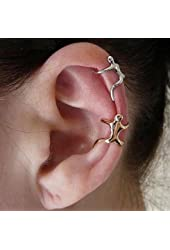 LanLan Sliver Climbing Man Naked Climber Ear Cuff Helix Cartilage Earring