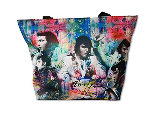 Elvis Presley Tote Bag Color Collage