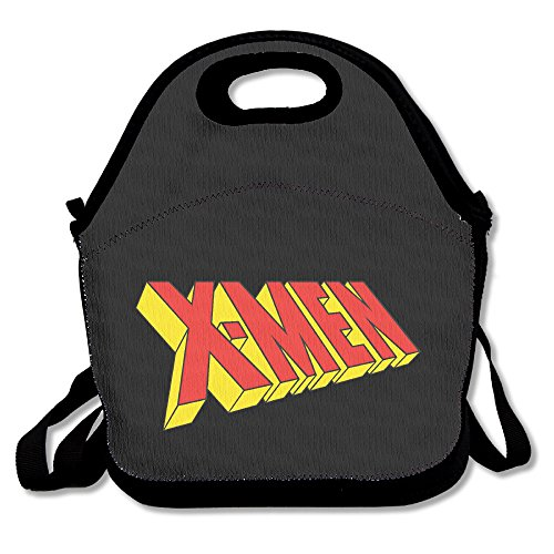 Xmen Comic Logo Lunch Box Bag For Kids And Adult,lunch Tote Lunch Holder With Adjustable Strap For Men Women Boys Girls,This Design For Portable, Oblique Cross,double (Female X Men Characters)