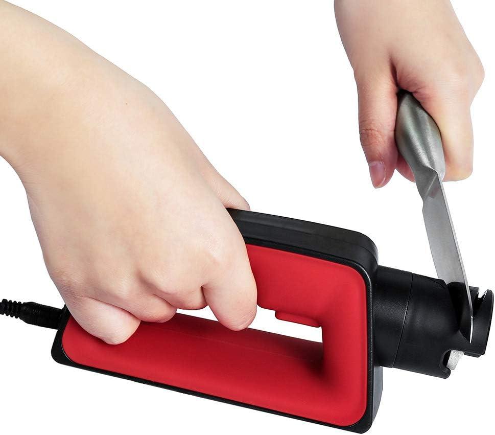 Electric Knife Sharpener,With Japanese Grinding Wheel,Hyper Motor,5 Seconds Easy Grinding,For Knife,Scissor,Screw Driver,Triple-Purposes Sharpener