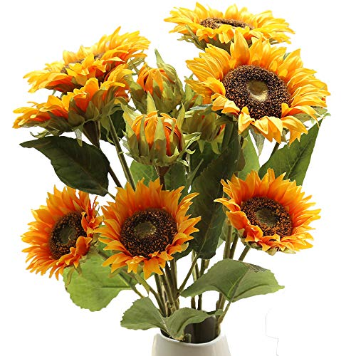Furnily Sunflower Artificial Flowers 3Pcs 28