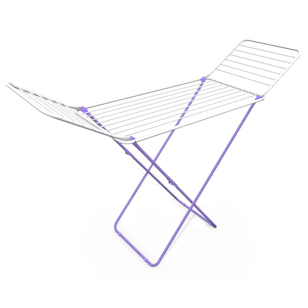 LIANGJUN 乾燥ラック金属調節可能な折り畳み式多機能翼形状、パープル、172 * 57 * 93cm B07BF61HFL