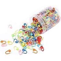 Imperdibles, 500 Piezas de alfileres de Seguridad de plástico marcadores de Puntadas de Ganchillo de Colores suéter…