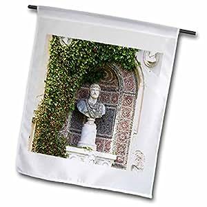 VWPics Romania - Statue in garden of Peles Castle, Sinaia, Prahova Valley, Transylvania, Romania - 18 x 27 inch Garden Flag (fl_46262_2)