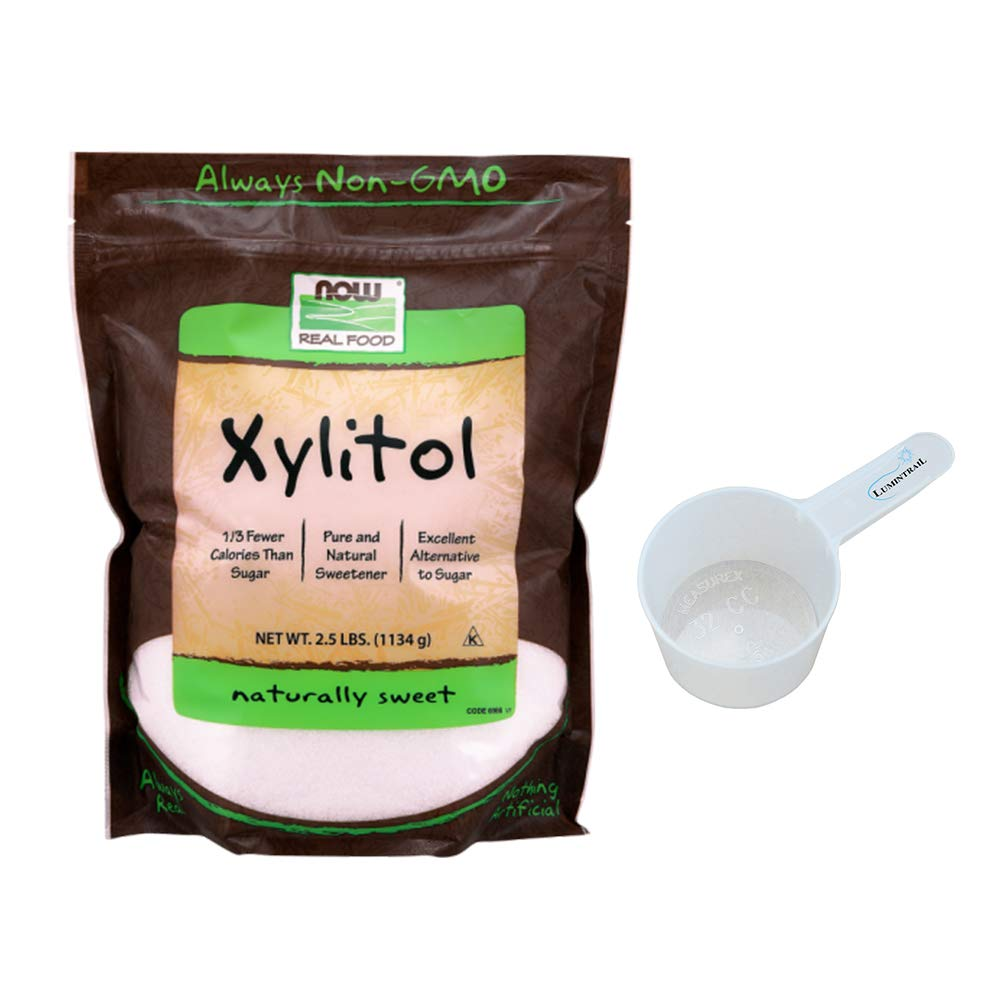 NOW Xylitol, 2.5-Pound Bundle with a Lumintrail 32cc Scoop