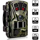Waterproof Hunting Trail Cameras for Men Fathers Day-16MP 1080P 120 Degree Wide Angle 2.4'' LCD Game Camera, 65ft/20m Infrared Night Vision with IR LED 0.2s Trigger Time for Wildlife Monitor Camcorder