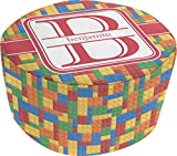 Building Blocks Round Pouf Ottoman (Personalized)