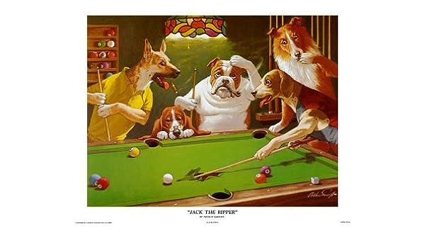 Impresión cómica - JACK el destripador por Arthur Sarnoff - perros ...
