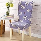 WWQY Form Fit Country Chair Cover , Polyester Fabric Type Slipcovers , purple