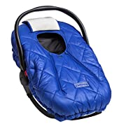 Cozy Cover Premium Infant Car Seat Cover (Blue) With Polar Fleece - The Industry Leading Infant Carrier Cover Trusted By Over 5.5 Million Moms For Keeping Your Baby Warm