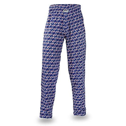 Zubaz Adult Men's NFL Team Logo Print Comfy Jersey Pants, - Buffalo Bills Jersey Blue Style