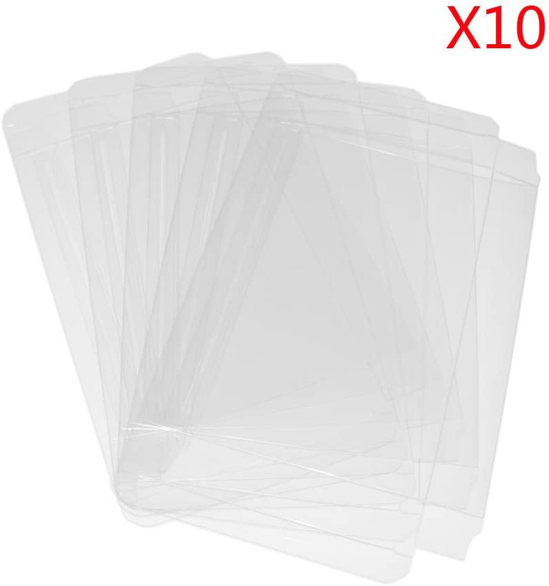 Childhood 10Pcs Clear Case Sleeve Protector for Genesis Games Cartridge