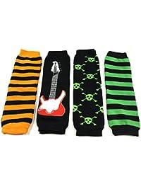 4 Pack Baby Leg Warmer Set & Toddler Leg Warmer Set for Boys & Girls