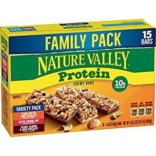 Nature Valley Chewy Granola Bars Protein Variety Pack, Gluten Free, 21.3 oz