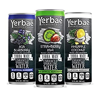 Yerbae Sparkling Water with Yerba Mate Tea - Natural Energy Drink with Caffeine & Antioxidants - Zero Sugar, No Calories, Keto & Whole 30, Non-GMO Seltzers (Variety 12 Pack of 12oz Cans)