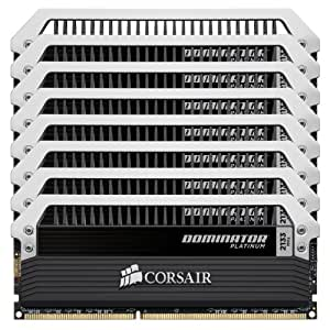 Corsair Dominator Platinum 64 GB (8x8 GB) DDR3 2133MHz (PC3 17066) Desktop Memory CMD64GX3M8A2133C9