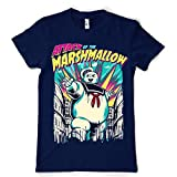 Staypuft Ghostbuster Mens T-shirt Attack Of Marshmallow Man NAVY S
