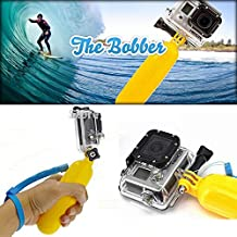 Ourmes Floating Handle Grip Float Bobber Monopod Mount Grip Accessories with Screw for Gopro HD Hero 4 Hero 3+ Hero 3 Hero 2 Hero 1, HD & SJ4000 Hero cameras Adjustable (Yellow)