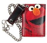 Sesame Street ELMO Tri-Fold WALLET w/Chain, Bags Central