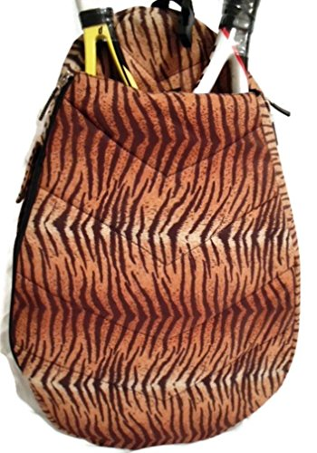 Jetpac Small Sling - Jetpac Jet (Life is Tennis) Women's Tennis Racket Sling Backpack Bag - Tiger Safari Animal