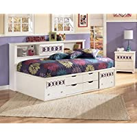 Roundhill Furniture Jura Bookcase Day Bed, Twin, White