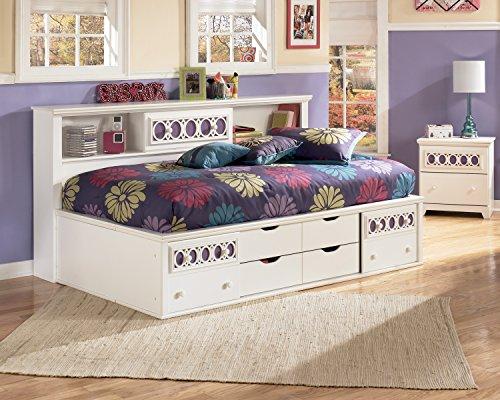 Roundhill Furniture Jura Bookcase Day Bed, Twin, White