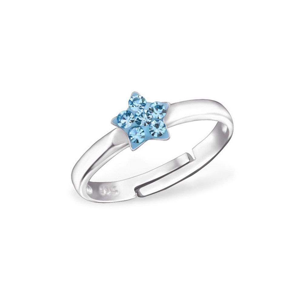 Liara Kinderstern Ring 925 Sterling Silber.Poliert und Nickelfrei 100-24013-12177