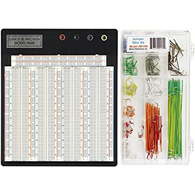 Elenco Breadboard | 3742 Total Contact Points | PLUS JW-350 with 350 Pre-Formed Jumper Wires | Make DIY - College - High School - Prototyping Projects Easier | 9480WK: Toys & Games