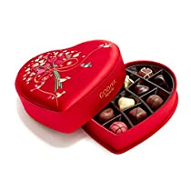 Godiva Chocolatier Limited Edition 2018 Valentineu0027s Day Luxury Fabric Heart  Assorted Gourmet Chocolates 14 Piece Gift