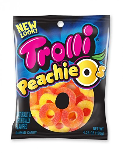 (Trolli, Peachie O'S, 4.25oz Bag (Pack of 6))