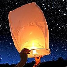 Olibay 10 PCS Sky Lanterns,Paper Wish Lanterns White