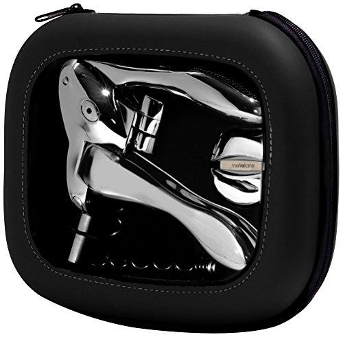 Rabbit Zippity Polished Sterling Corkscrew in EVA Storage Case (Black) by Rabbit