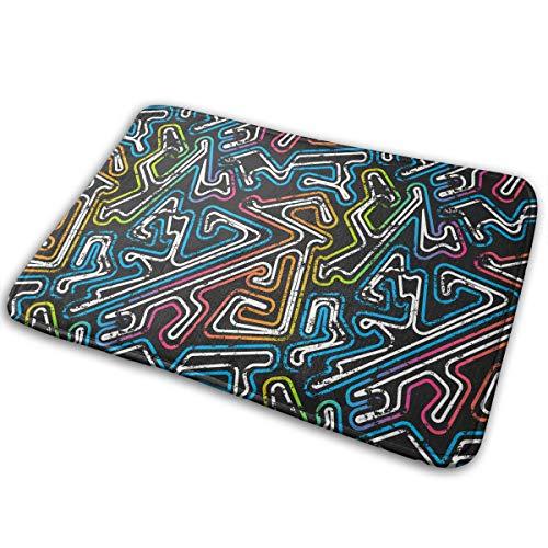 FMFCCAR Graffiti Maze Outdoor Indoor Mat Room Rug Carpet 15.7