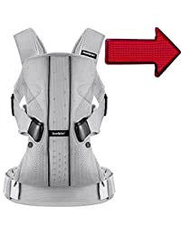 Baby Bjorn 0930004USK1 Baby Carrier One Air - Silver with LED Light - Black Orange Lines BOBEBE Online Baby Store From New York to Miami and Los Angeles